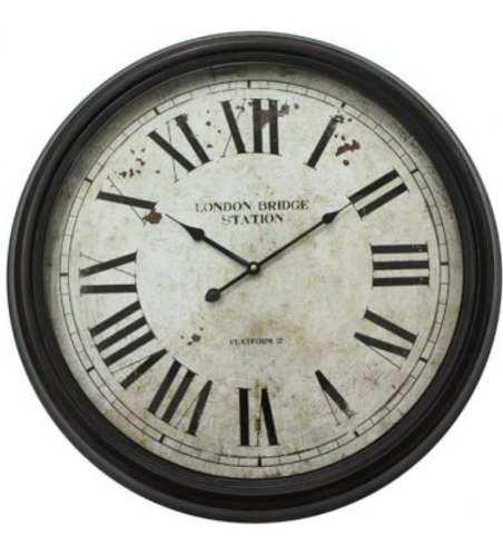 Reloj pared vintage numeros romanos 60cm - envio gratis!