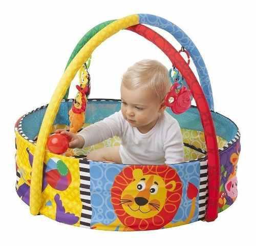 Alfombra gimnasio bebe pelotero playgro manta didactica bebe