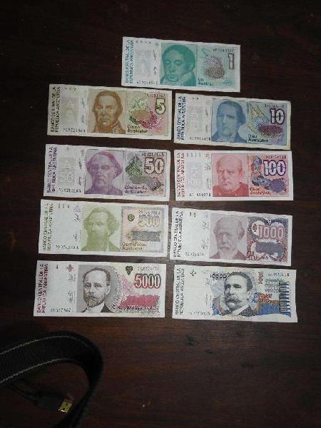 Billetes argentinos australes