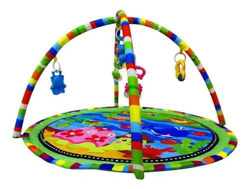 Gimnasio alfombra didactica bebé con móviles y sonajeros