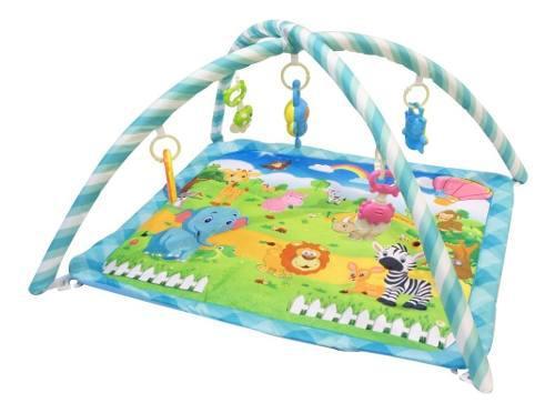 Gimnasio bebe alfombra didáctica con sonajeros y moviles