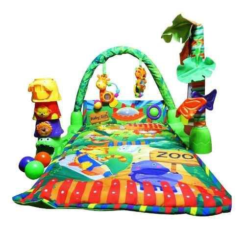 Gimnasio Para Bebe Alfombra Didactica Baby Safari Zippy Toys