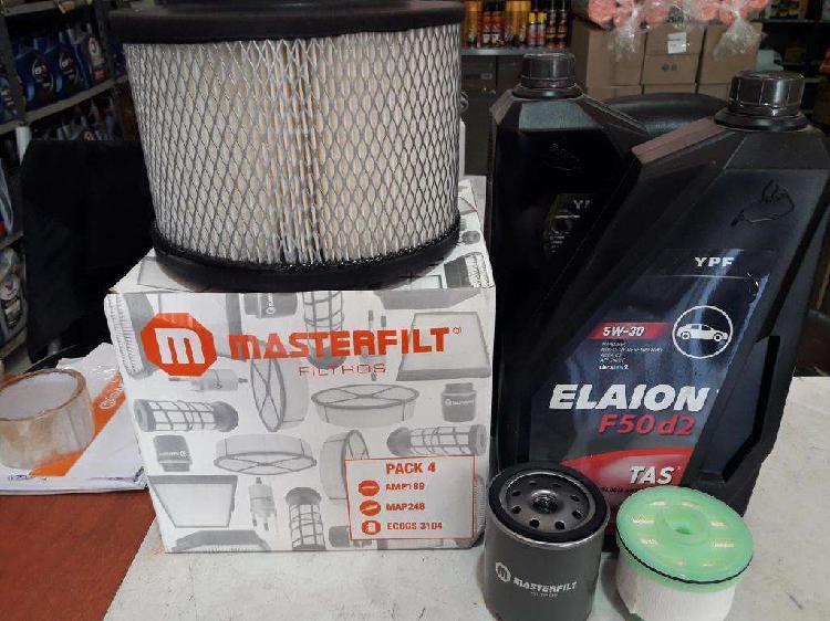 Kit de filtros para toyota hilux mas 8 lts de aceite elaion