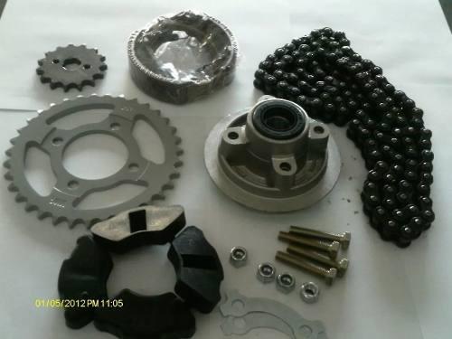 Kit 110cc porta corona, kit, zapata, goma maza, tornillos