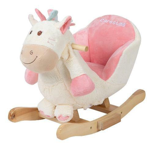 Mecedor de peluche carestino pony blanco