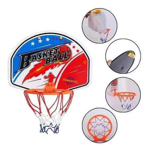 Mini aro basquet con pelota inflable infantil tablero red
