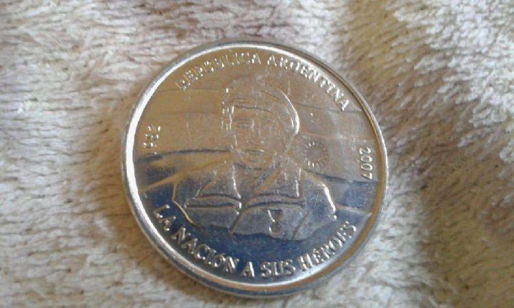 Moneda 2 pesos conmemorativa 25 años malvinas 2007
