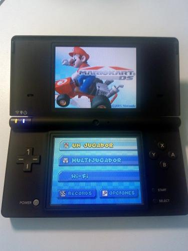 Nintendo dsi negra + mario kart