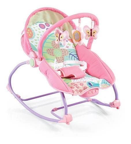 Silla mecedora bebe carestino rocker musica rosa