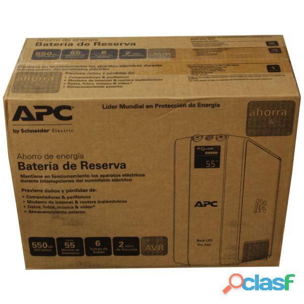 UPS APC. Batería de respaldo. BR550G AR. NUEVAS C/GARANTIA. ENVIO GRATIS EN ROSARIO Y MAS. ENVIOS! 1