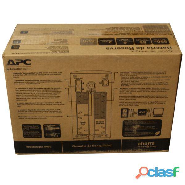 UPS APC. Batería de respaldo. BR550G AR. NUEVAS C/GARANTIA. ENVIO GRATIS EN ROSARIO Y MAS. ENVIOS! 5
