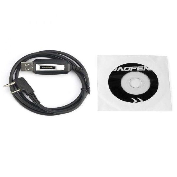 Cable programacion y cd handy baofeng uv5r, bf888 y otros