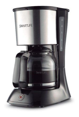 Cafetera eléctrica smartlife 1.5l cm9402 filtro permanente