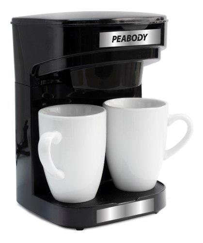 Cafetera electrica filtro peabody acero inox 2 tazas regalo