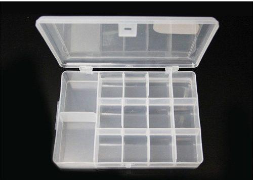 Caja para señuelos pesca mosca pesca 14 compartimientos