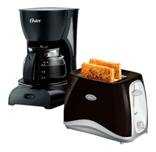 Combo cafetera filtro oster 0,6l tostadora 2 panes xellers