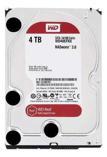 Disco rigido 4tb wd red sata3 3.5 6gb/s 64m 5400rpm