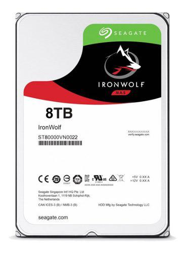 Disco rigido 8tb seagate ironwolf sata3 3.5 7200rpm 256mb