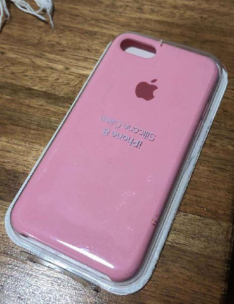 Funda iphone 7/8 rosa silicona