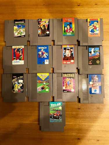 Lote 13 juegos originales nintendo nes ninja turtles y más