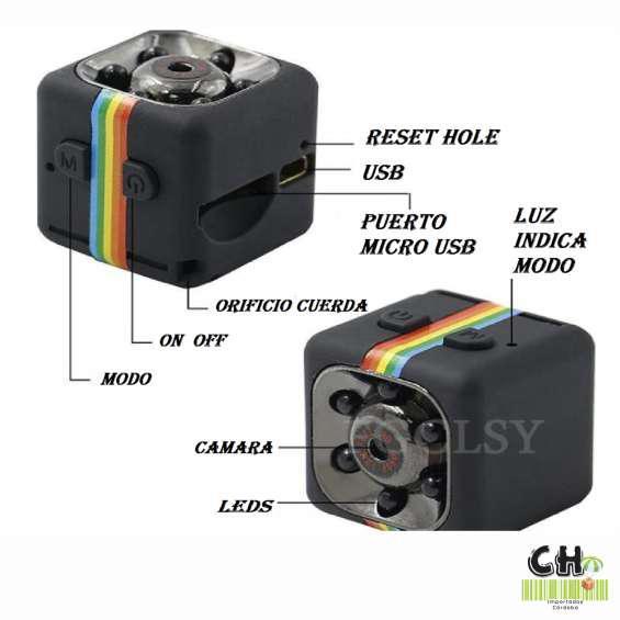 Mini video camara espia infraroja vision nocturna grabadora