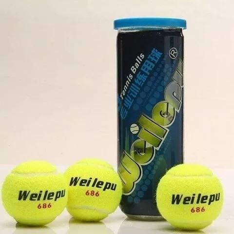 Pelotas weilepu tenis padel tubo x 3 + antivibrador regalo