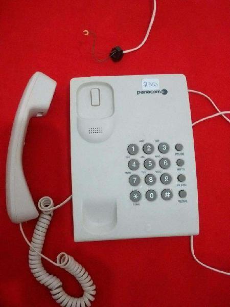 Teléfono fijo panacom, modelo pa 7500. impecable estado,