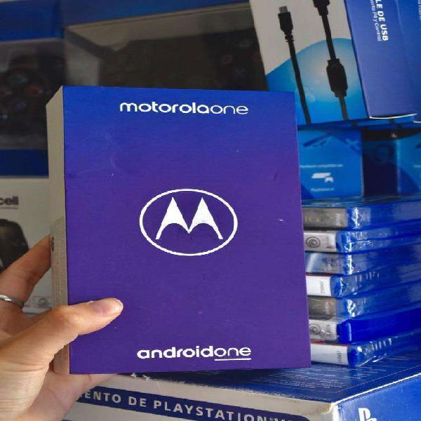 Motorola one nuevo con garantia local