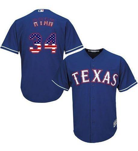 Camiseta m. l. b. texas rangers #34 ryan