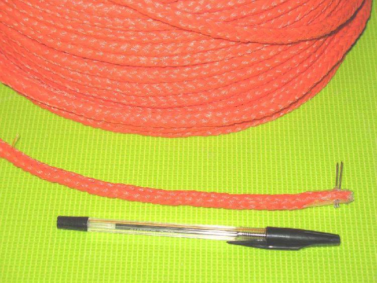 Soga de polietileno trenzado de 8 mm anaranjado