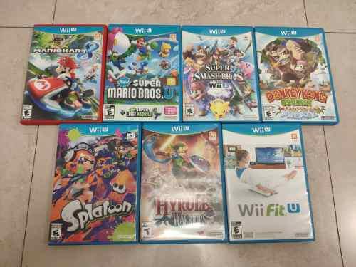 Wii u combo 7 juegos nintendo (usados)