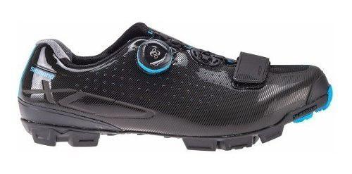 Zapatillas shimano para mtb sh-xc7 negro/azul play day bicis