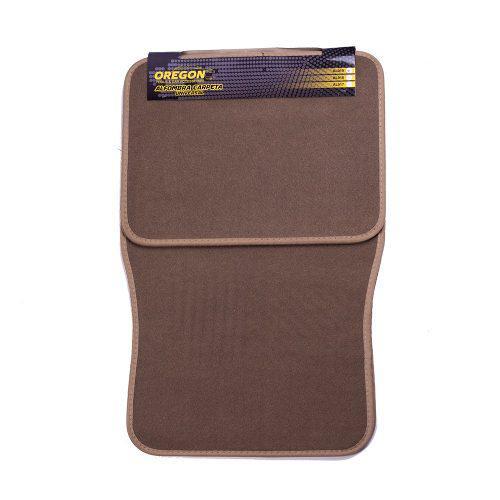 Alfombra carpeta tela tipo original 4 piezas beige