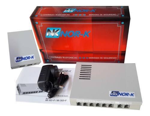 Central telefónica 2x6 + mod port 2 h + frente portero 2 h