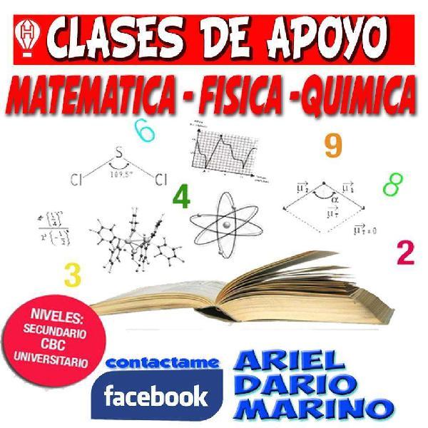 Clases particulares de profesor matematica,fisica y quimica