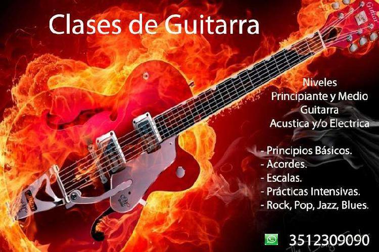 Clases de guitarra electrica / acústica, nivel principiante