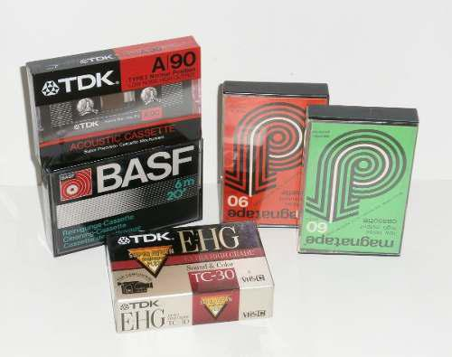 Lote cassettes audio vhs virgen, valor x todo!