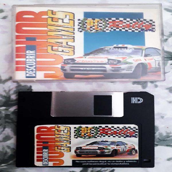 2 retro diskettes juegos para pc futbol 95 y rally