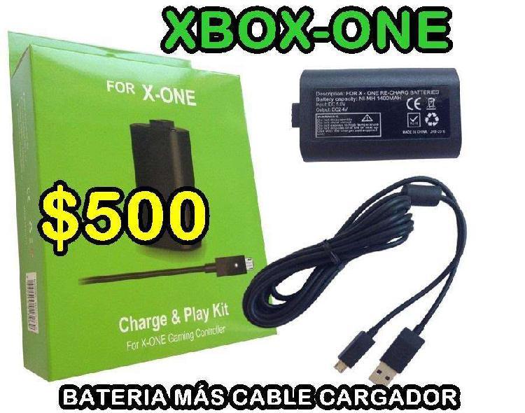 Bateria más cable xbox-one 500