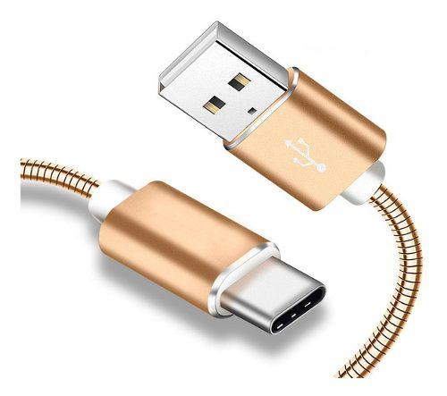 Cable usb de datos carga rapida tipo c nylon mallado colores