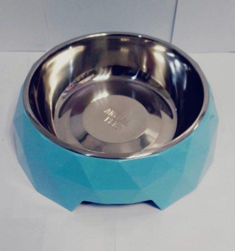 Comedero bebedero circular con bowl de acero inoxidable l