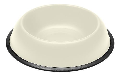 Comedero bebedero perro gato metal kc72 blanco 0.5l ferplast