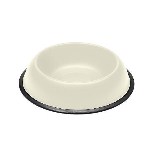 Comedero bebedero perro gato metal kc76 blanco 0.9 ferplast