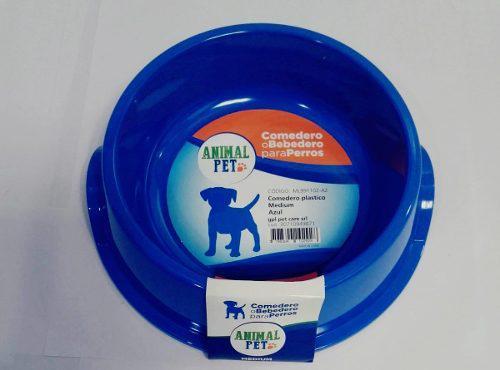 Comedero bebedero plastico animal pet plato medium