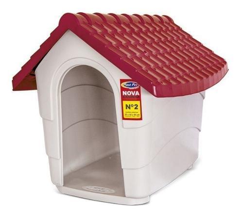 Cucha casa perros gatos exterior plast pet nova n2