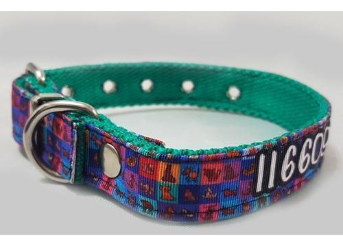 Identificación en collar de perro sublimado 3cm dogideas