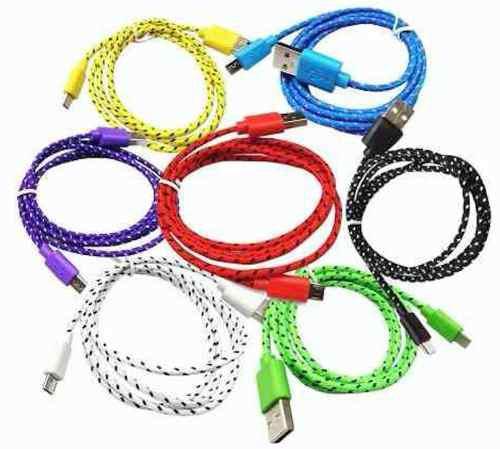 Lote 50 cable datos ditron carga rapida usb a lightning 1 m