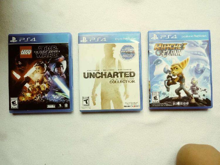 Ps4 uncharted collection juegos 1, 2 y 3 lego star wars