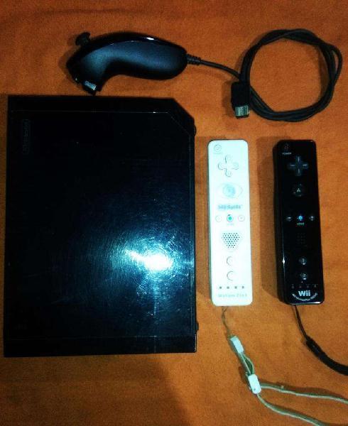 Wii negra chipeada