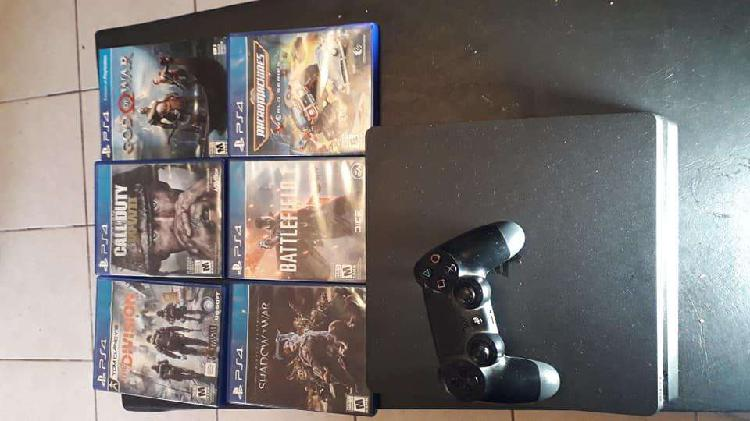 Ps 4 impecable 1 joistick 6 juegos
